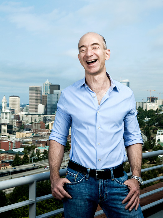 Amazon.com CEO Jeff Bezos in Seattle.  Photo by John Keatley.