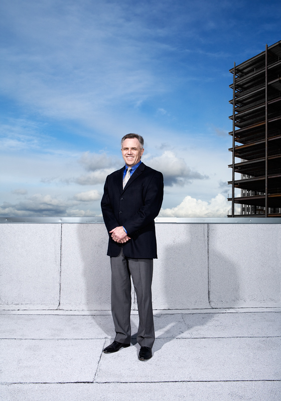 Cover photo for Seattle Business April 2009 of CEO Dan Ivanoff.  Photo by John Keatley.