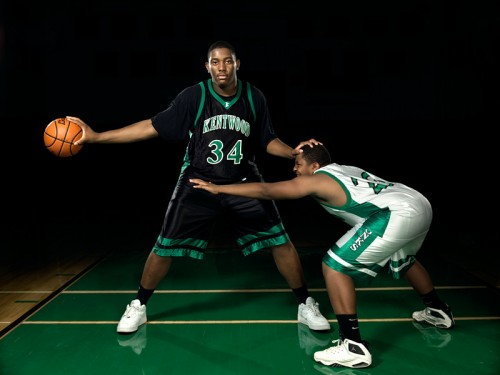 Josh Smith plays basketball for Kentwood High. Photo by John Keatley.