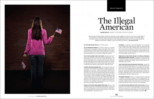 Portrait of an illegal immigrant by photographer John Keatley.