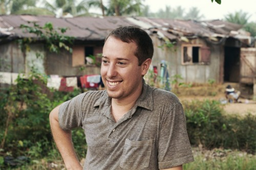 Portrait of photographer John Keatley in Liberia.