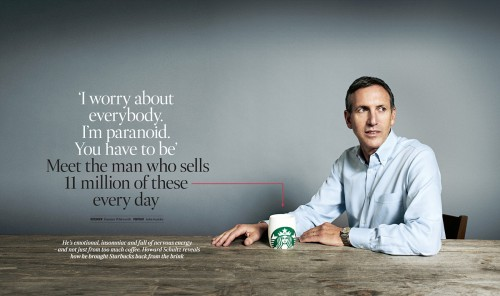Howard Schultz photograph by John Keatley