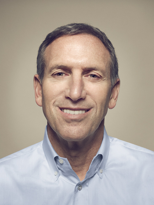 Howard Schultz headshot portrait by John Keatley