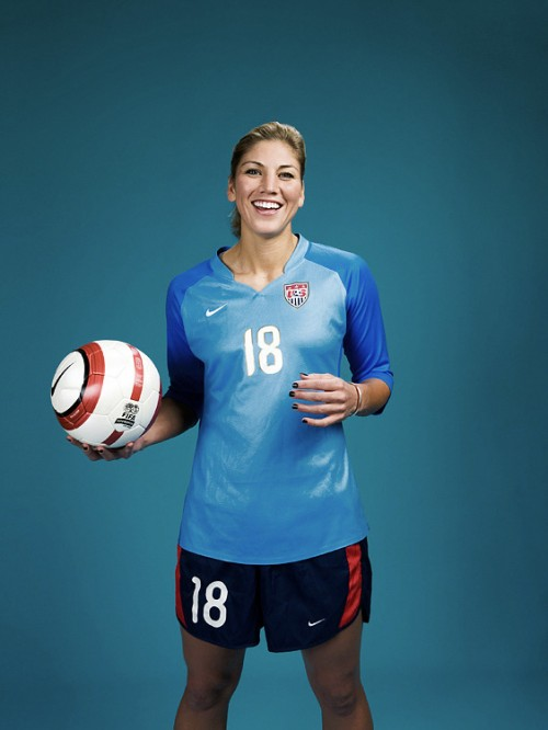 USA Women's Soccer goalkeeper Hope Solo photographed by John Keatley.