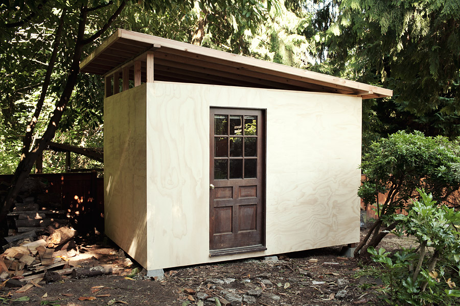 Backyard office shed demo building john keatley for Building a home office in backyard