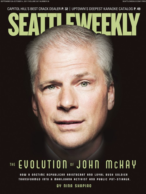John McKay on the cover of Seattle Weekly. Photo by John Keatley.