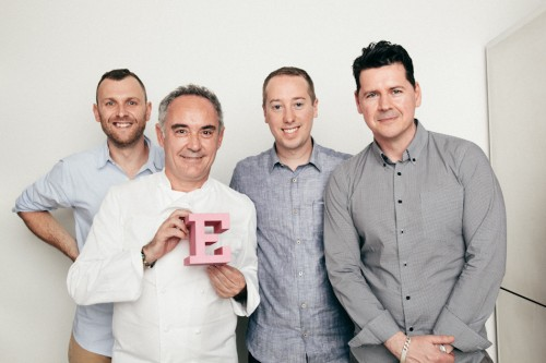 Wired UK AD Andrew Diprose, Ferran Adria, John Keatley, and Wired UK Executive Editor Greg Williams