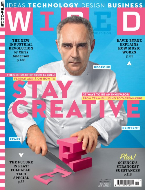 October Cover of Wired UK.  Ferran Adria by John Keatley.