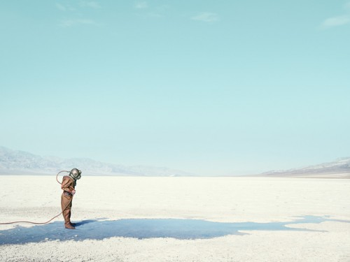 Diver In The Desert by photographer John Keatley.