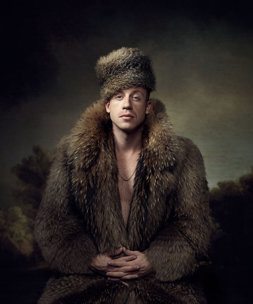 Macklemore portrait. Photo by John Keatley