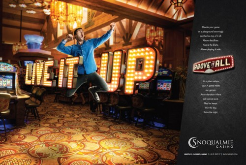 Snoqualmie Casino ad. By photographer John Keatley.