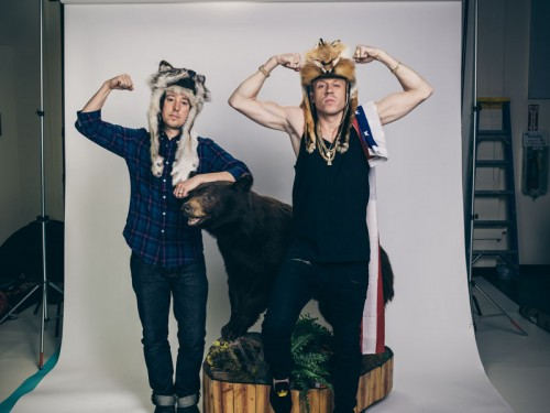 Macklemore and John Keatley photo shoot.