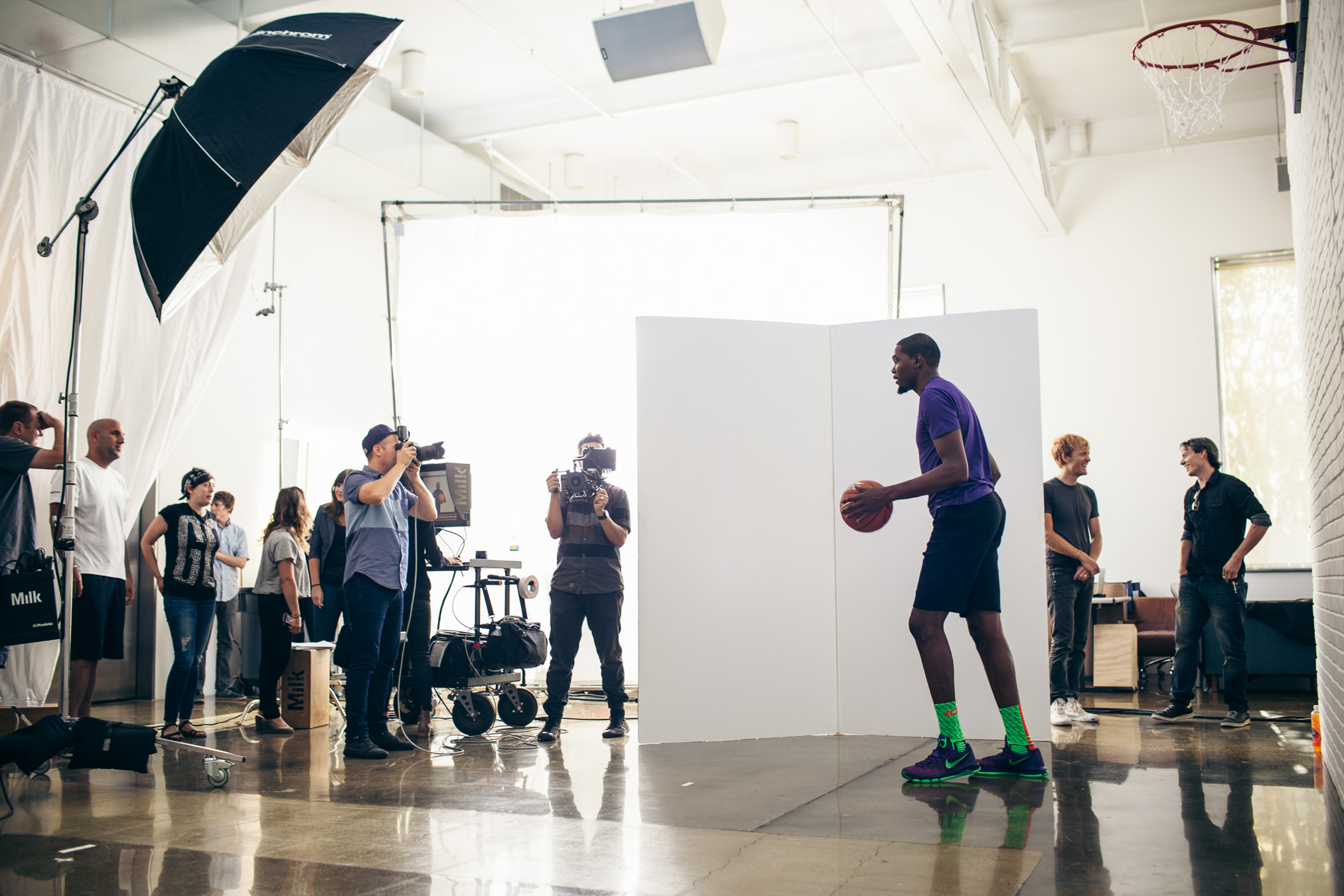 John Keatley at Milk Studios in LA with Kevin Durant for Sparkling ICE