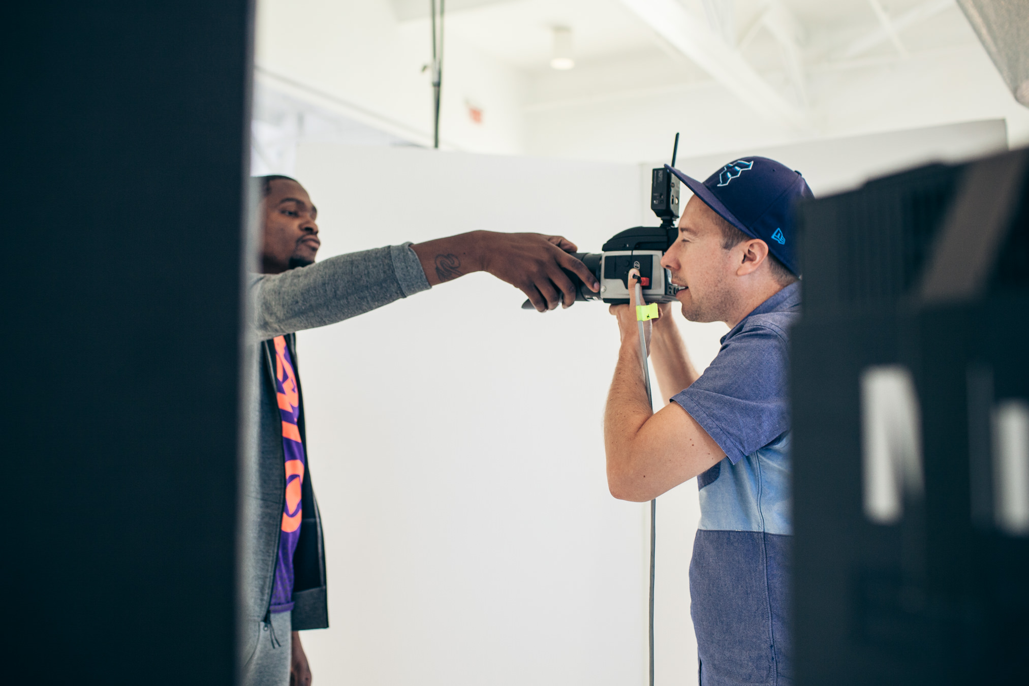 A Kevin Durant selfie with an expensive camera and John Keatley