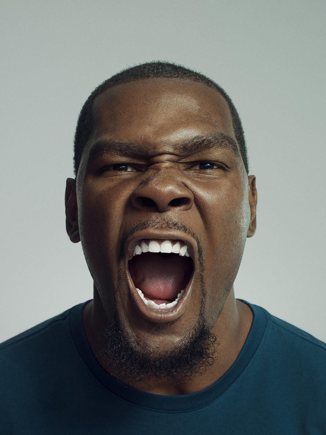 Kevin Durant portrait by photographer John Keatley