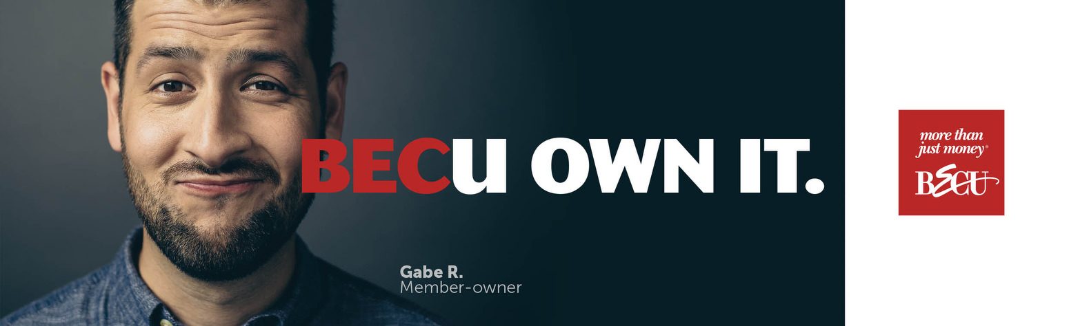 BECU Own It credit union ad campaign. Portraits of members by photographer John Keatley.