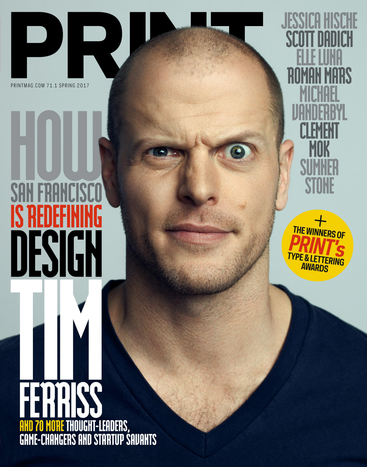 Tim Ferriss Print Mag cover by John Keatley