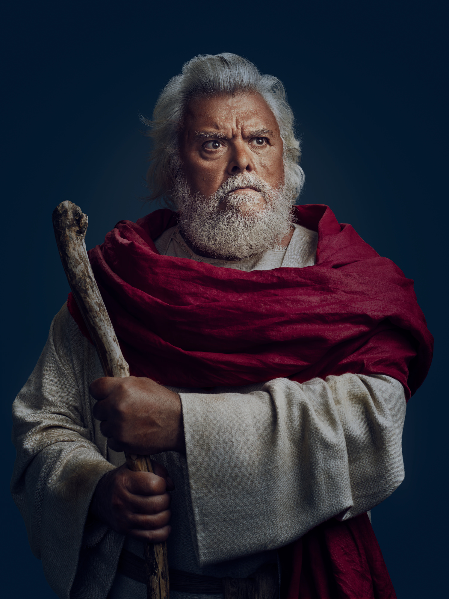 Moses Portrait for The Incredible Egg Dinner Egg ad campaign by John Keatley